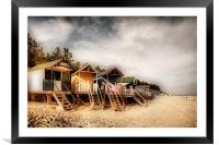 Beach Huts at Wells, Framed Mounted Print
