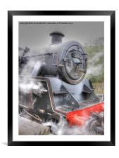 Steam Locomotive, Framed Mounted Print