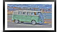 VW By The Sea, Framed Mounted Print