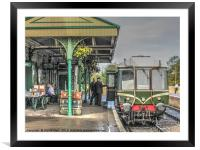 Next Train To Swanage, Framed Mounted Print