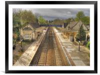 Bradford-on-Avon Railway Station, Framed Mounted Print
