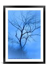 A shade of Blue, Framed Mounted Print
