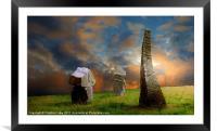 Sunset Stones, Framed Mounted Print