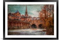 Pultney Bridge, Framed Mounted Print