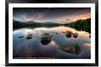 Loch Morlich - Sunset, Framed Mounted Print