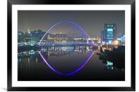 Gateshead Millennium Bridge, Framed Mounted Print
