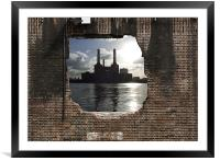 Hole in the wall, Framed Mounted Print