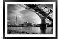 The Shard Skyline, London, Framed Mounted Print