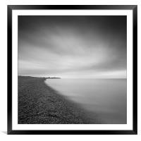 Aldeburgh beach at dawn, looking towards Sizewell,, Framed Mounted Print