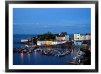 Tenby Harbour-Pembrokeshire-Wales., Framed Mounted Print