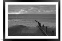 Hayling Island Beach, Framed Mounted Print