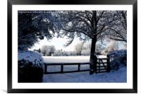 One Winter's Day, Framed Mounted Print
