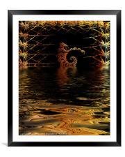 Dragon Fractal, Framed Mounted Print