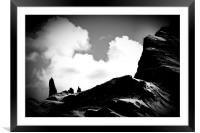 Old Man of Storr Silhouette, Framed Mounted Print