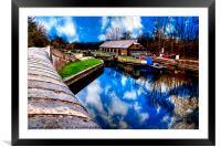 Bulbourne Dry Dock, Framed Mounted Print
