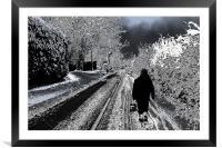 Long walk, Framed Mounted Print