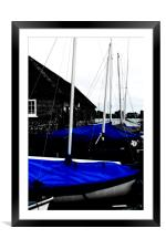 Blue, Framed Mounted Print