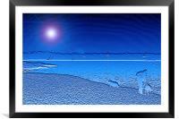 Blue Solent, Framed Mounted Print