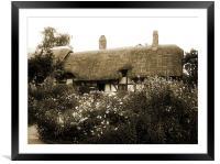 Cottage (Sepia), Framed Mounted Print