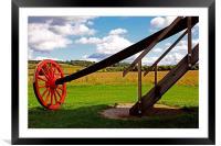 Pitstone Windmill Wheel, Framed Mounted Print