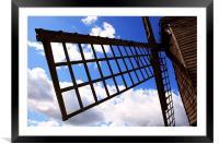 Windmill sail, Framed Mounted Print