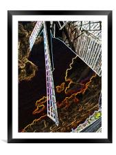 Artistic Windmill, Framed Mounted Print