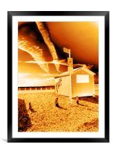 Beach Hut, Framed Mounted Print