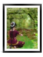 Dreamy Woodland, Framed Mounted Print