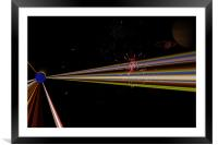Exploding Star, Framed Mounted Print