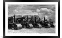 Steam Rollers, Framed Mounted Print