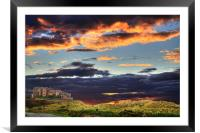Bamburgh Castle At Sunset, Framed Mounted Print