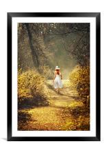 Girl in a white dress, Framed Mounted Print