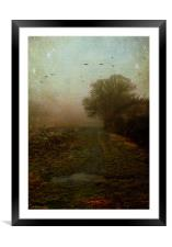 What lies ahead, Framed Mounted Print