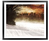 St lukes in the snow, Framed Mounted Print