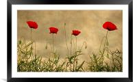 Brave Soldiers, Framed Mounted Print