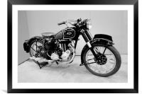 AJS Vintage Motorcycle, Framed Mounted Print