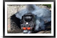Manston 34070 Swanage railway, Framed Mounted Print