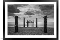 Brighton west pier, Framed Mounted Print