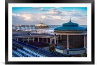 Eastbourne pier and bandstand, Framed Mounted Print