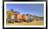 Beach Huts and Pine Trees 3, Framed Mounted Print