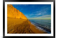 Footsteps in the sand, Framed Mounted Print