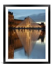 The Louvre, Framed Mounted Print