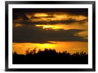 Sunset  at Cheddar Gorge, Framed Mounted Print