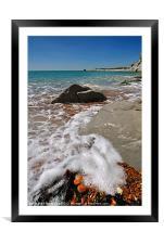 Sea Foam, Framed Mounted Print