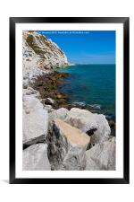 Cliffs at Samphire Hoe, Framed Mounted Print