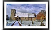 St Margarets in Wintertime, Framed Mounted Print