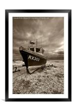 Dungeness Boat under Cloudy Skies, Framed Mounted Print