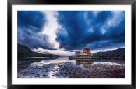 Stormy Skies Eilean Donan Castle, Framed Mounted Print