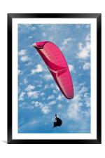 Red Canopy Paraglider, Framed Mounted Print