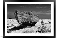 Dungeness Decayed Boat, Framed Mounted Print
